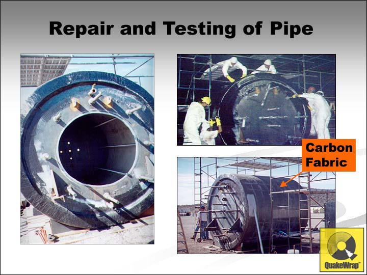 Carbon reinforcement of pipe